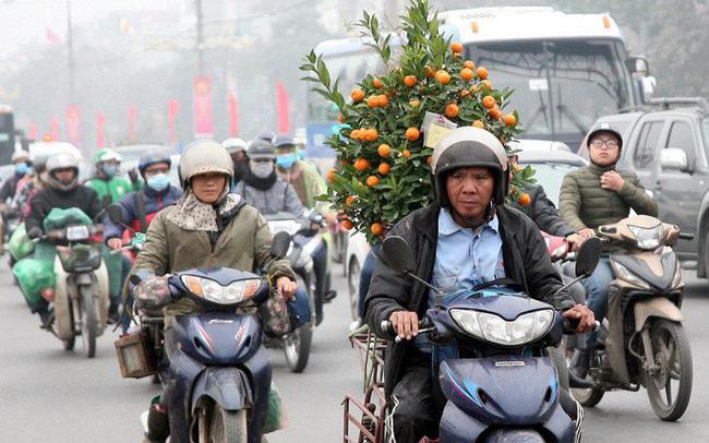 Hà Nội: Nhiều cửa ngõ Thủ đô ùn tắc do dòng người ùn ùn đổ về quê ăn Tết