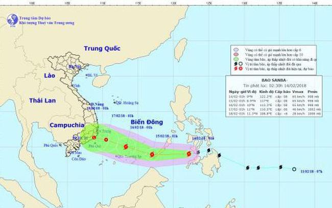 Tối nay 29 Tết bão Sanba vào biển Đông