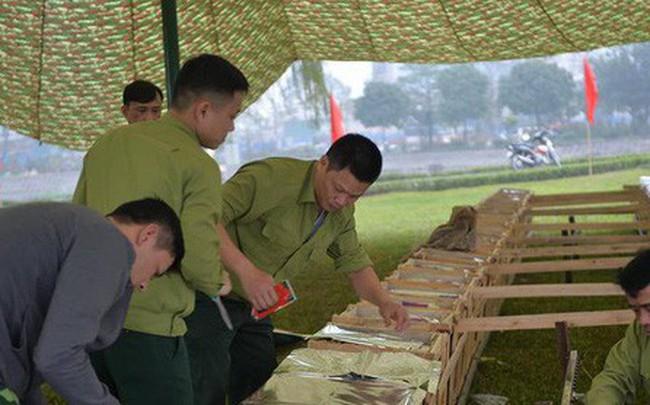 Trận địa pháo hoa tại Hà Nội trước khoảnh khắc Giao thừa