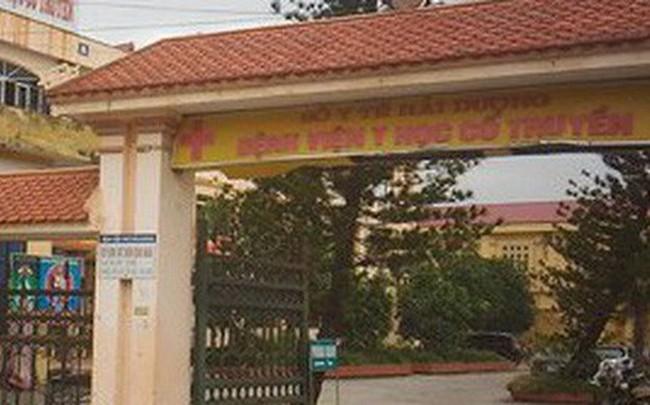 Kỷ luật khiển trách Giám đốc Bệnh viện Y học cổ truyền Hải Dương