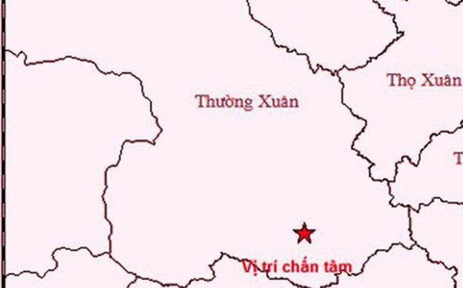 Xảy ra động đất 3 độ Richter tại huyện miền núi tỉnh Thanh Hóa