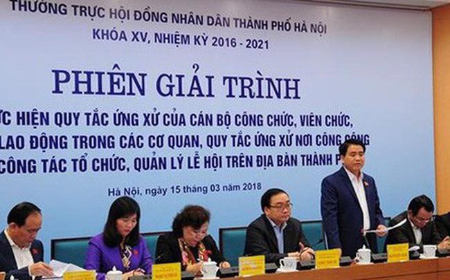 Chủ tịch Hà Nội: Cấp sở, quận chuyển biến, cấp phường còn nhũng nhiễu