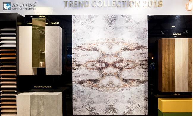 """Gỗ An Cường ra mắt """" Trend Collection 2018"""" tại Vietbuild Hà Nội"""
