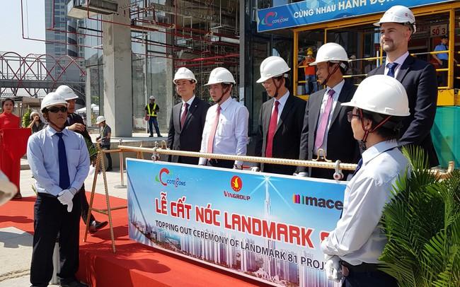 Vingroup chính thức cất nóc tòa nhà cao nhất Việt Nam Landmark 81 với độ cao gần 500m