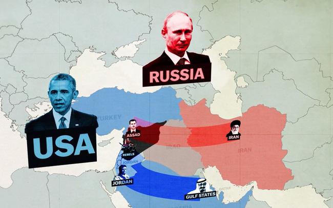 Đồ họa giải thích những mối quan hệ chồng chéo trên chiến trường Syria