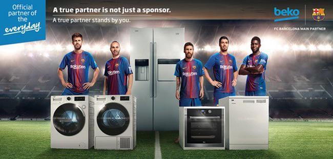 Dấu ấn thương hiệu trên áo đấu CLB Barcelona