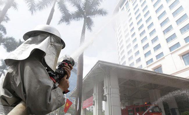 Khách sạn Hà Nội Daewoo tổ chức diễn tập phương án chữa cháy năm 2018