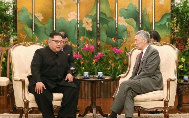 Ông Kim Jong Un gặp mặt Thủ tướng Singapore Lý Hiển Long
