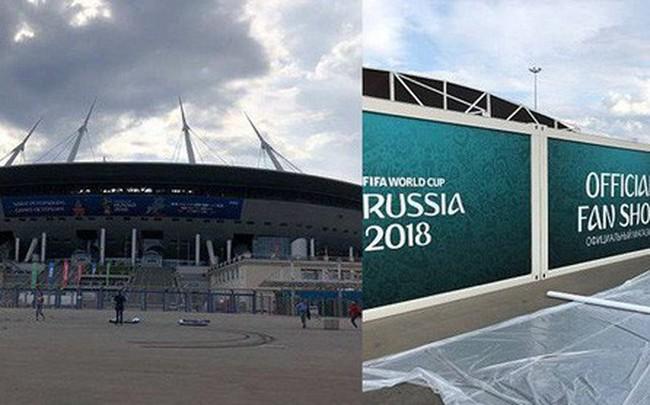 Cách giờ khai mạc chỉ một ngày, sân vận động World Cup của Nga vẫn chưa xây xong