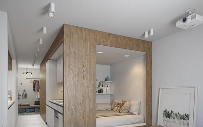 Căn hộ 30 m2 sử dụng nội thất sáng tạo