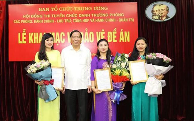 Ban Tổ chức Trung ương bổ nhiệm 3 trưởng phòng sau thi tuyển