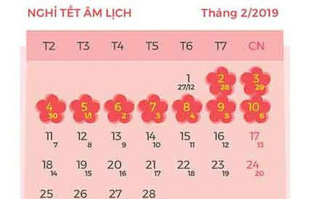 Chính thức trình đề xuất nghỉ Tết Âm lịch 2019 dài 9 ngày