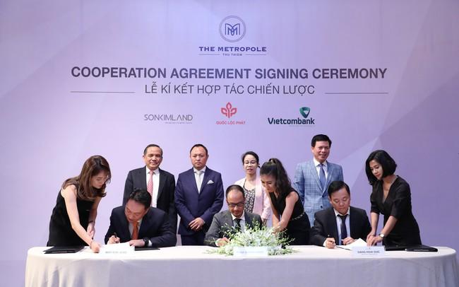 Quốc Lộc Phát, SonKim Land và Vietcombank hợp tác chiến lược phát triển dự án The Metropole Thủ Thiêm