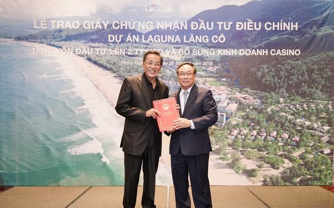 Dự án Laguna Lăng Cô được trao chứng nhận tăng vốn 2 tỷ USD, bổ sung kinh doanh casino