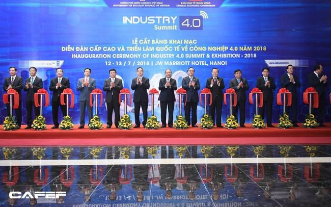 Sáng nay, Thủ tướng tham dự Diễn đàn Cấp cao và Triển lãm quốc tế về Công nghiệp 4.0