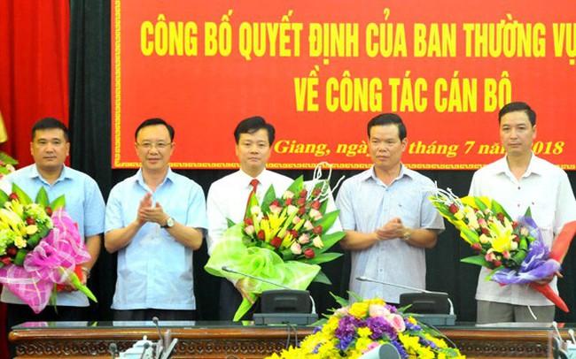 Điều động, bổ nhiệm nhân sự chủ chốt tỉnh Hà Giang