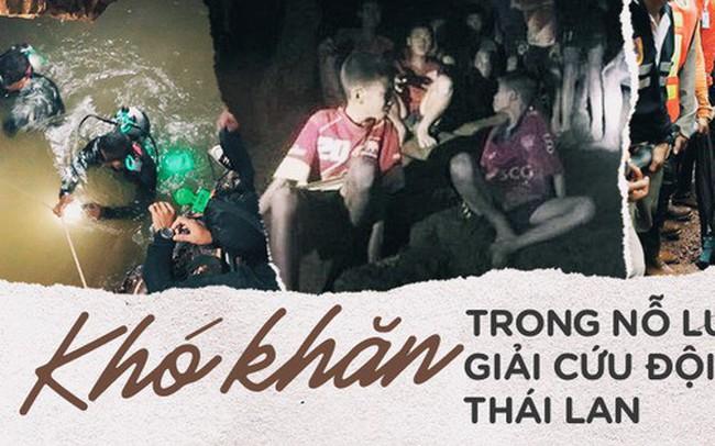 Những khó khăn chồng chất trong suốt nửa tháng giải cứu đội bóng Thái Lan