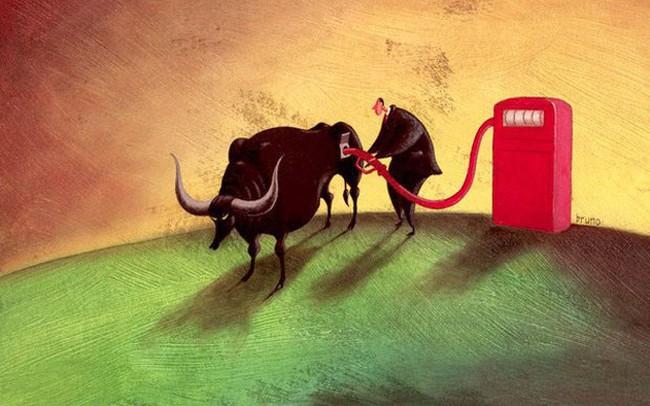 """Dòng tiền """"ầm ầm"""" đổ vào cổ phiếu dầu khí, tài chính, Vn-Index đảo chiều tăng gần 5 điểm trong phiên cuối tuần"""