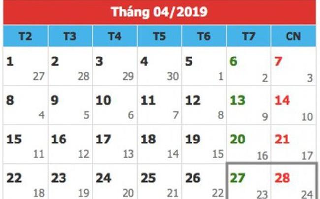 Thủ tướng phê duyệt dịp lễ 30/4- 1/5/2019 sẽ được nghỉ 5 ngày