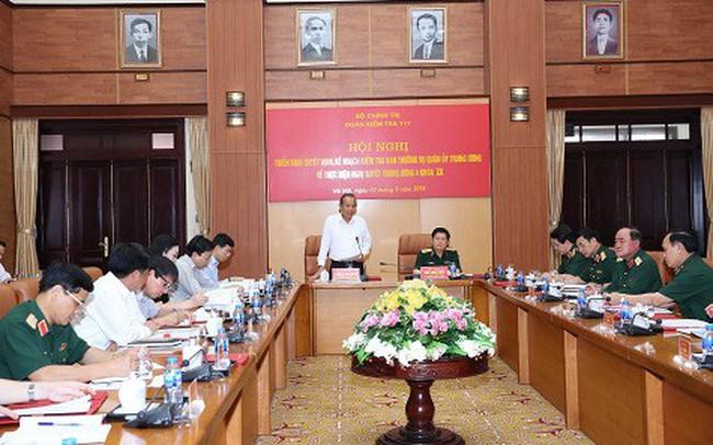 Công bố quyết định kiểm tra đối với Ban Thường vụ Quân ủy Trung ương