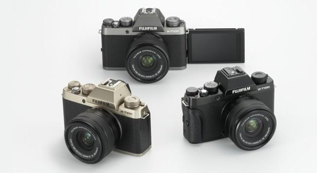 Fujifilm ra mắt máy ảnh Mirrorles X-T100 phong cách cổ điển