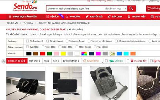 Hàng superfake giá rất rẻ được rao bán công khai trên Sendo, Lazada