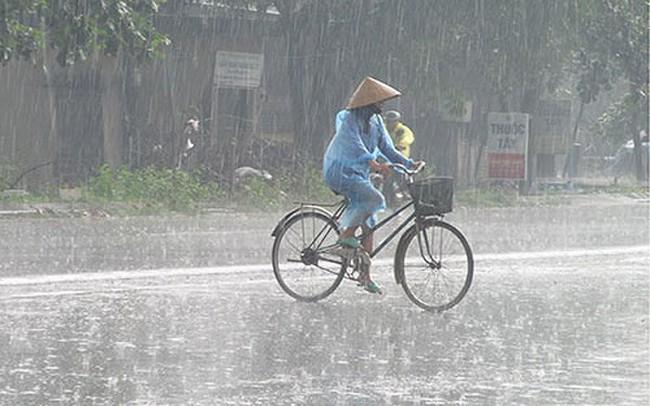 Vùng áp thấp tiếp tục gây mưa dông bao trùm cả nước