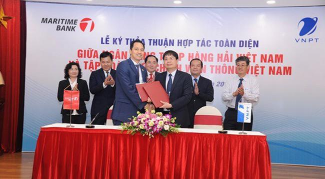 VNPT ký kết thỏa thuận hợp tác toàn diện với Maritime Bank