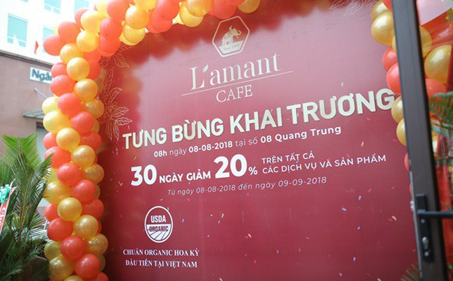 Khai trương Cửa hàng Cà phê Organic đầu tiên tại Việt Nam – L'amant Café