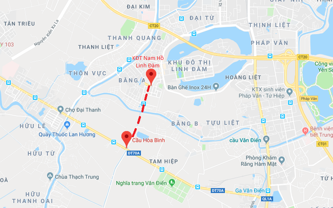 Hàng chục nghìn người dân Linh Đàm, Xa La, Đại Thanh sẽ được hưởng lợi khi Hà Nội chuẩn bị xây dựng con đường này