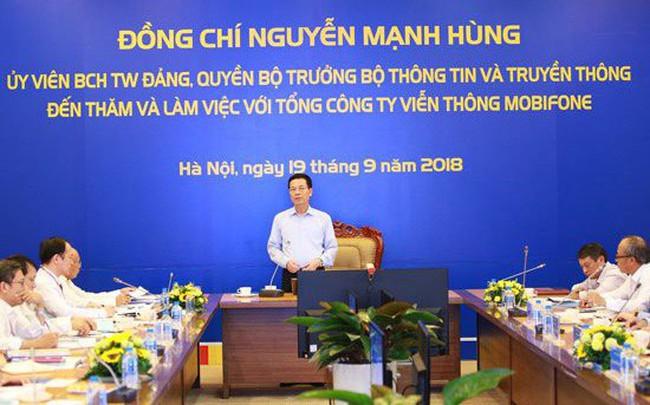 """Quyền Bộ trưởng Nguyễn Mạnh Hùng: """"Hãy xây dựng MobiFone mới dựa trên chính sự khác biệt của MobiFone"""""""