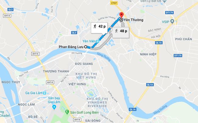 Hà Nội chuẩn bị làm tuyến đường dài 3km từ Phan Đăng Lưu đến Yên Thường, Gia Lâm
