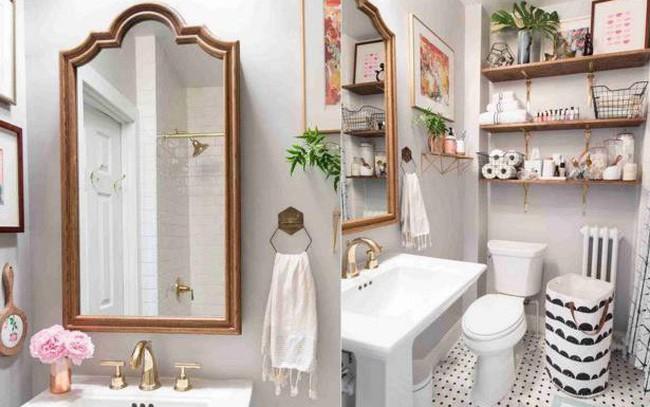 Phòng tắm chật hẹp sẽ rộng không ngờ nhờ những mẹo đơn giản này