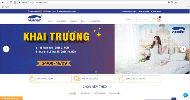 Hệ thống bán lẻ nệm do Mekong Capital đầu tư ra mắt website thương mại điện tử mới