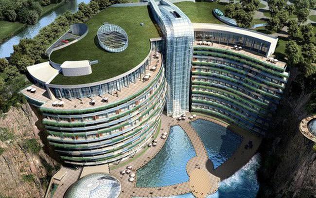 Sắp khai trương khách sạn 18 tầng dưới lòng đất tại Trung Quốc
