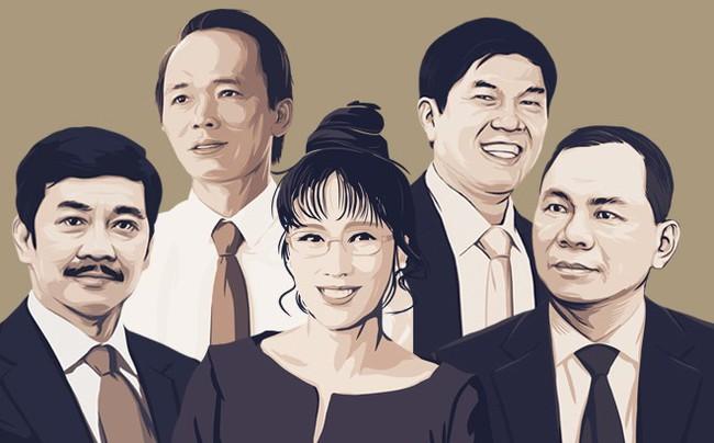 5 gia đình tỷ đô trên sàn chứng khoán Việt