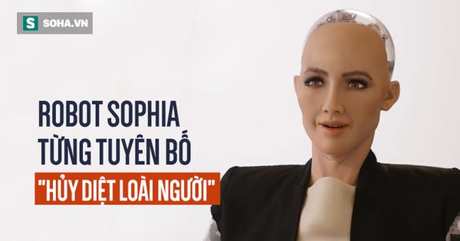 """Sophia: Cô nàng robot từng tuyên bố hủy diệt con người, lần đầu nói """"lời yêu"""""""
