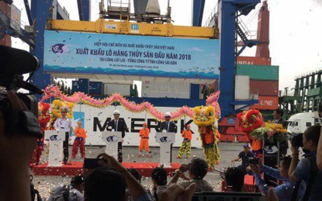 Xuất khẩu lô hàng thủy sản đầu tiên trong năm 2018