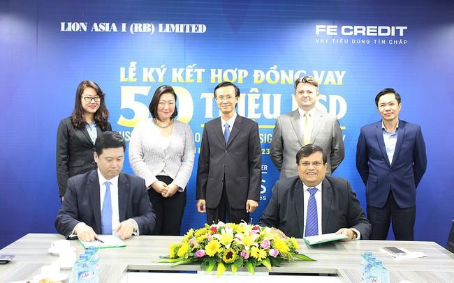 FE CREDIT ký hợp đồng vay vốn trị giá 50 triệu USD với Lion Asia