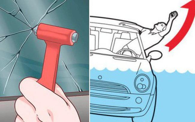 Bí kíp thoát khỏi ô tô khi chìm dưới nước - học ngay vì trên đời này chuyện gì cũng có thể xảy ra