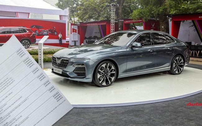 Xôn xao bảng giá option hơn 300 triệu đồng bị đồn thổi là của sedan và SUV VinFast