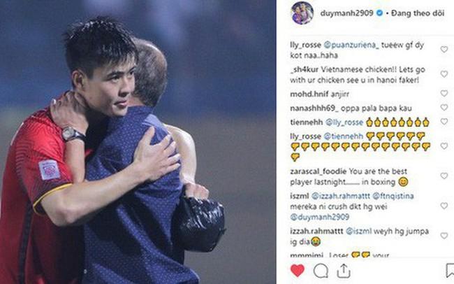 Bị CĐV Malaysia tấn công dữ dội trên Instagram nhưng cách Duy Mạnh phản ứng mới đáng chú ý