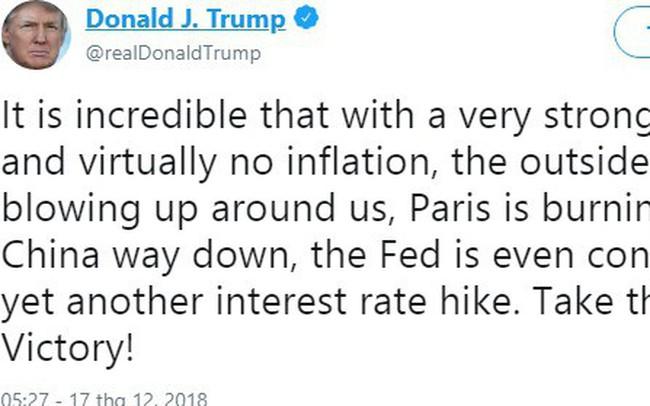 Dòng tweet của Tổng thống Trump khiến người Pháp 'giận sôi người'