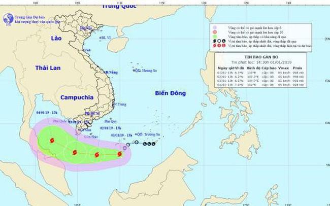 Cơn bão đầu tiên trong năm 2019 cách Côn Đảo 450km