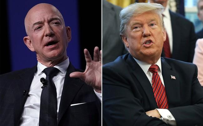 Sau khi chúc ly hôn tốt đẹp, ông Trump lại mỉa mai tỷ phú Jeff Bezos trên Twitter - ảnh 1