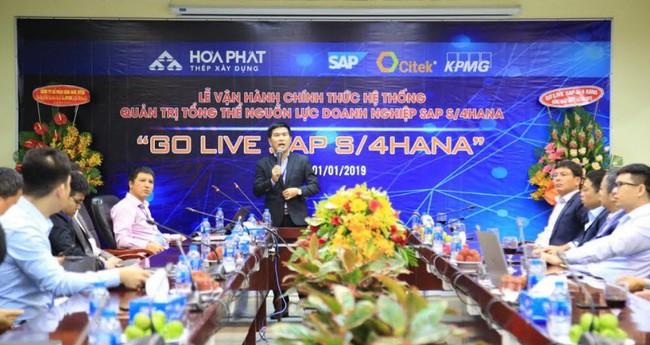 Khu liên hợp gang thép Hòa Phát Dung Quất chính thức vận hành hệ thống quản trị SAP S/4HANA
