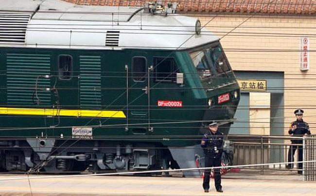 Đoàn tàu bọc thép đưa ông Kim Jong Un tới Bắc Kinh