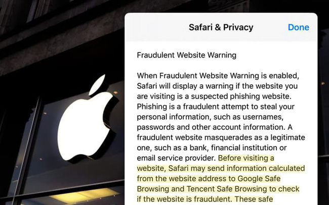 """Apple hứng """"gạch đá"""" vì gửi dữ liệu của người dùng iPhone cho Tencent"""