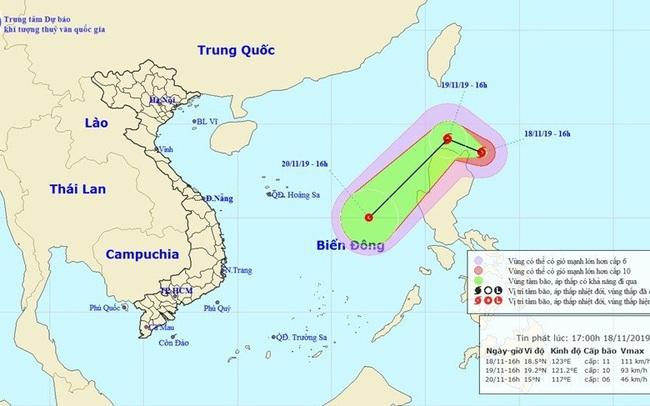 Xuất hiện bão Kalmaegi gần Biển Đông