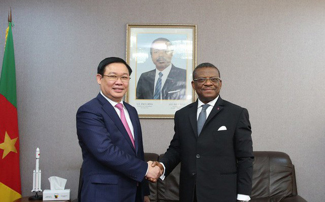 Phó Thủ tướng Vương Đình Huệ hội đàm với Thủ tướng Cameroon Joseph Dion Ngute